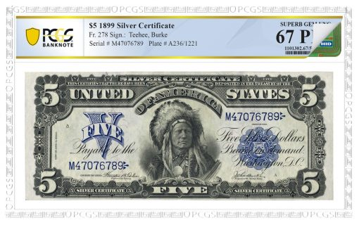 PCGS NFC 1899 $5 Silver Certificate