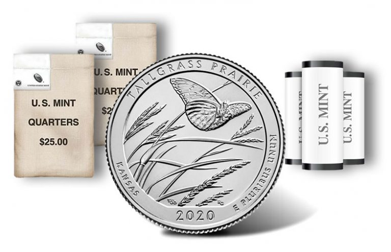 Tallgrass Prairie Quarters for Kansas Released in Rolls and Bags