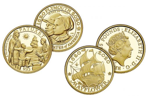 Coins of 400th Anniversary of the Mayflower Voyage Two-Coin Gold Proof Set