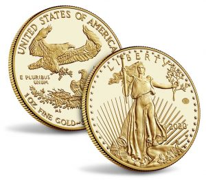 End of World War II 75th Anniversary American Eagle Gold Proof Coin - reverse and obverse