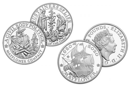 Medal and coin of 400th Anniversary of the Mayflower Voyage Silver Proof Coin and Medal Set1