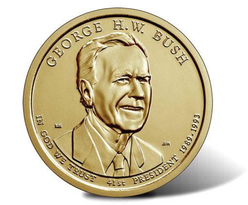 2020 George H.W. Bush Presidential $1 Coin - Obverse