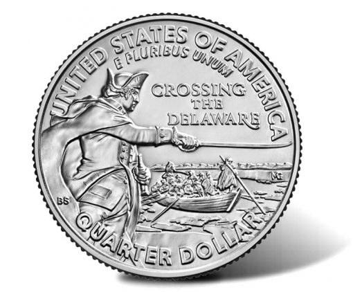 2021 General George Washington Crossing the Delaware Quarter - reverse