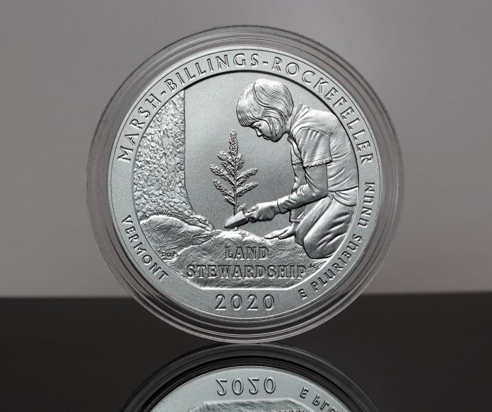 CoinNews Photo of 2020-P Marsh-Billings-Rockefeller National Historical Park Five Ounce Silver Uncirculated Coin
