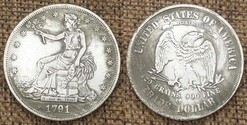Fake 1791-CC Trade dollar
