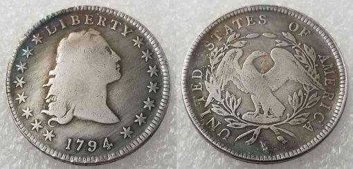 Fake 1794 Flowing Hair dollar