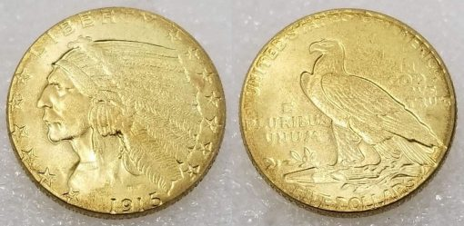 Fake 1915 Indian Head Quarter Eagle
