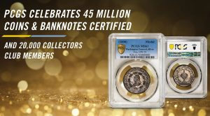 PCGS 45 Million 20k Collectors Club Banner