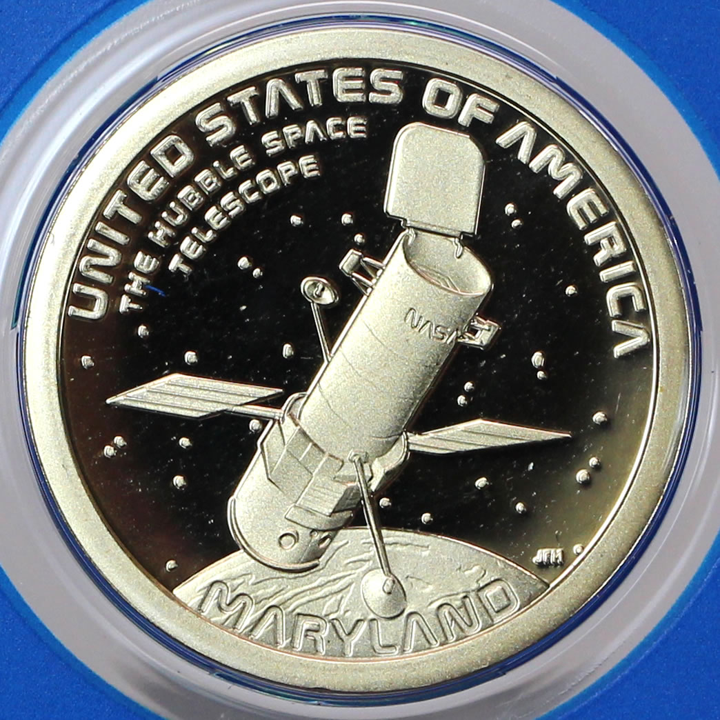 2020 S AMERICAN INNOVATION DOLLAR SINGLE PROOF COIN NO BOX MD HUBBLE TELESCOPE