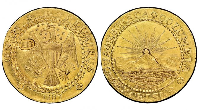 1787 DBLN New York-Style Brasher Doubloon realized 9.36m