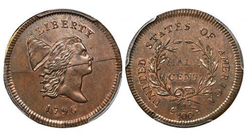 1796 No Pole Half Cent