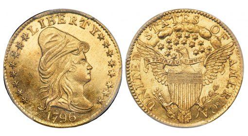 1796 Quarter Eagle, MS65 CAC