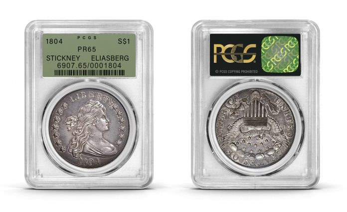 1804 dollar, graded PCGS PR65