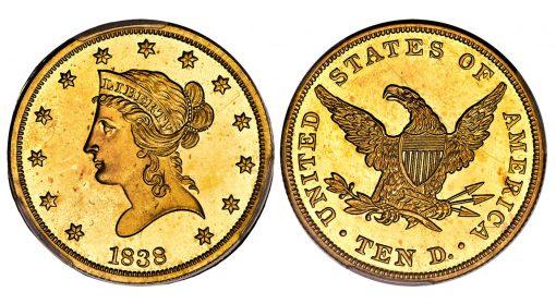 1838 Liberty Eagle, PR65 Cameo