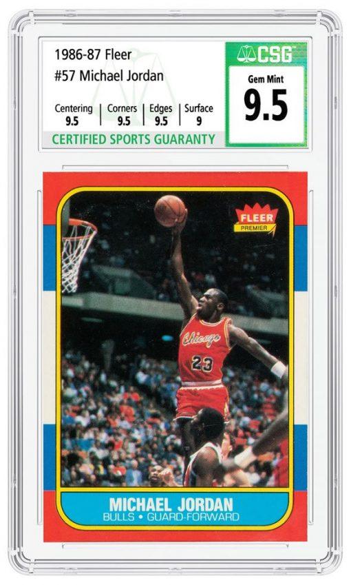 1986-7 Fleer #57 Michael Jordan graded CSG Gem Mint 9.5