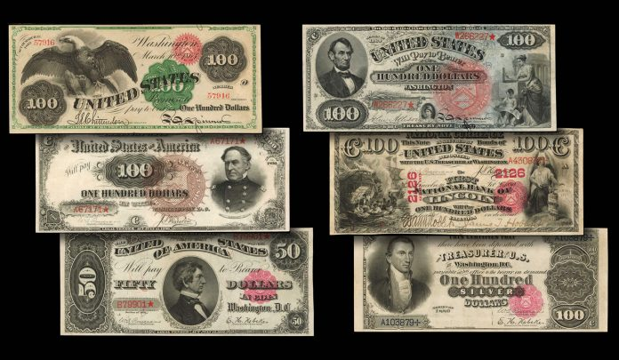 2020 U.S. Banknotes auctioned by Stack's Bowers
