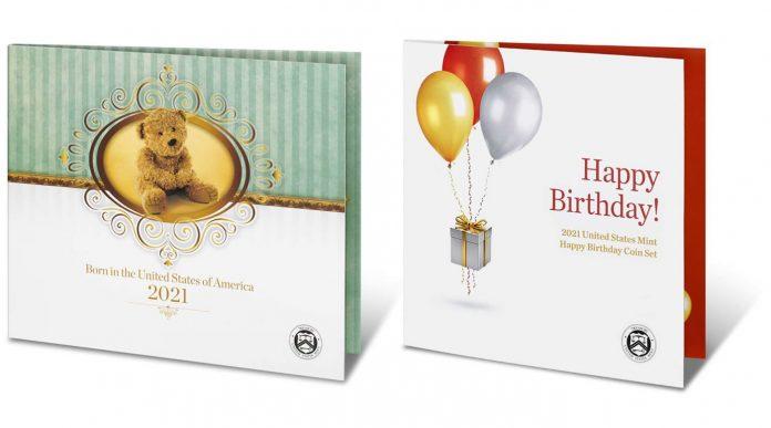 2021 Birth Set and 2021 Happy Birthday Coin Set