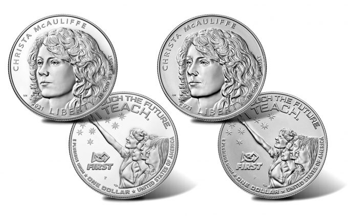 2021 Christa McAuliffe Silver Dollars