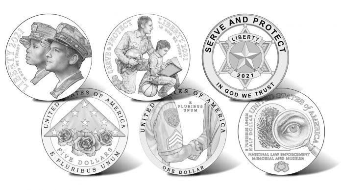 2021 National Law Enforcement Memorial and Museum Commemorative Coin Designs