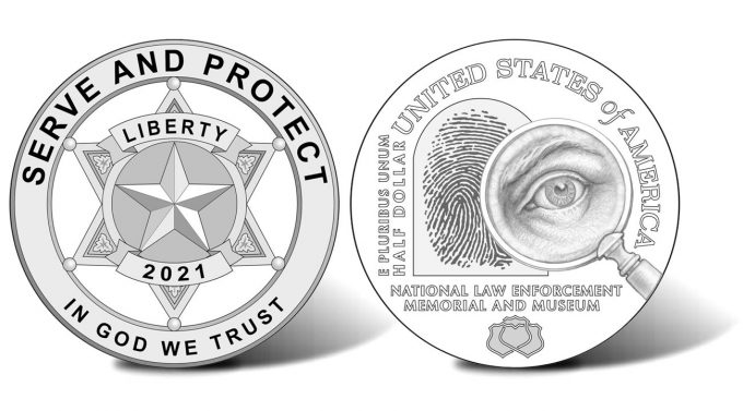 2021 National Law Enforcement Memorial and Museum Commemorative Half Dollar Designs