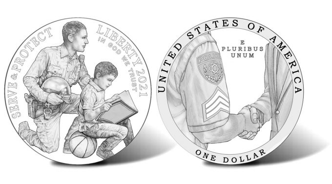 2021 National Law Enforcement Memorial and Museum Commemorative Silver Dollar Designs