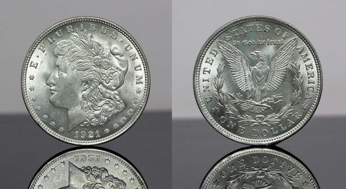 Morgan Silver Dollar - obverse and reverse