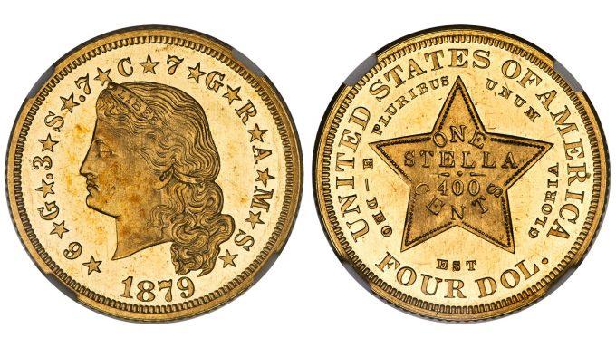 1879 Flowing Hair Stella, NGC, PF 65 Cameo