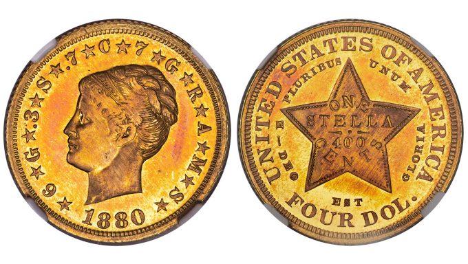 1880 Coiled Hair Stella, NGC, PF 67 Cameo