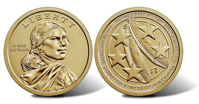 2021 Native American $1 Coin obverse and reverse