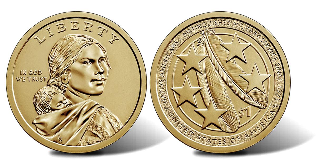 2018 P Sacagawea Dollar Roll Jim Thorpe Native American Mint Roll HEADS TAILS