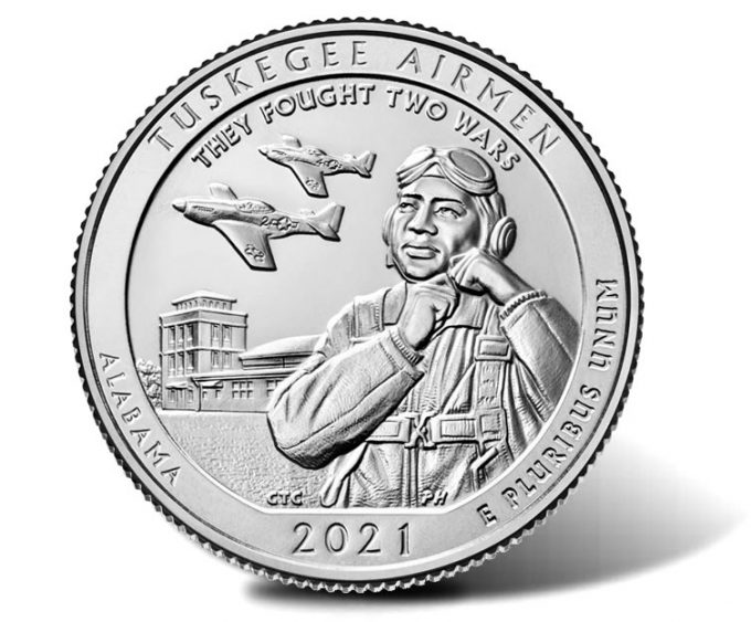 2021 Tuskegee Airmen National Historic Site quarter - reverse