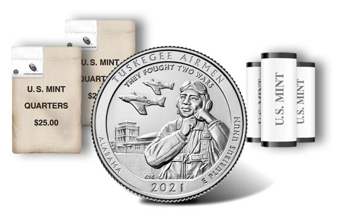 2021 Tuskegee Airmen quarter rolls and bags