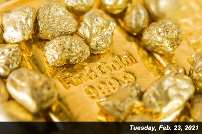 999.9 fine gold bars and gold nuggets feb 23, 2021