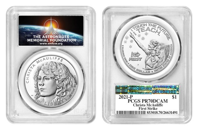 Illustration Christa McAuliffe PCGS label