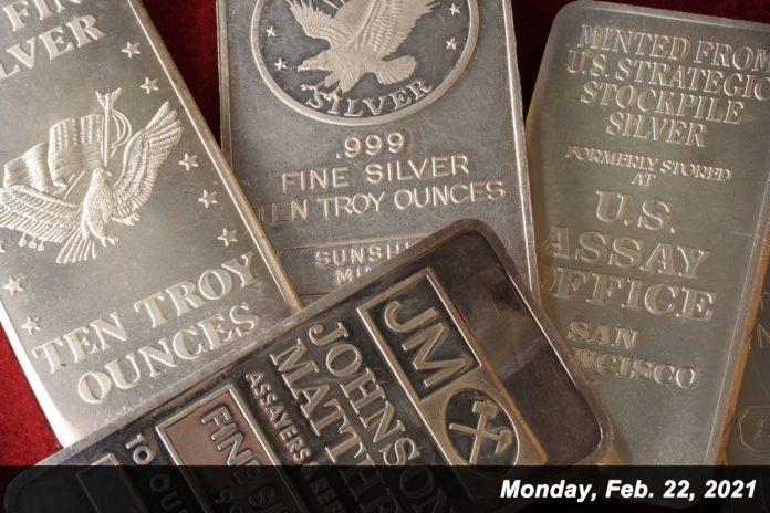 JM silver bars Feb 22,2021