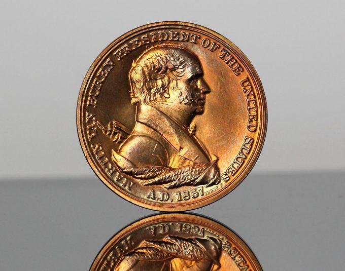 Martin Van Buren Presidential Bronze Medal - Obverse