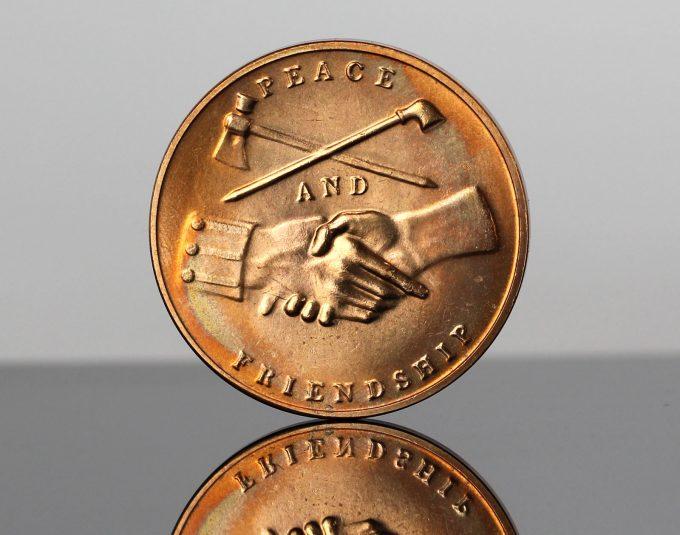 Martin Van Buren Presidential Bronze Medal - Reverse