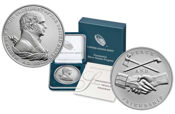 Mint product images Martin Van Buren Presidential Silver Medal
