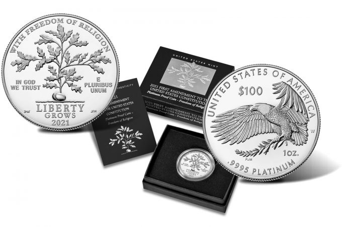 US Mint Product Images of 2021-W Proof American Platinum Eagle