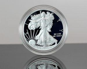 Classic 2021-W Proof American Silver Eagle (obverse)