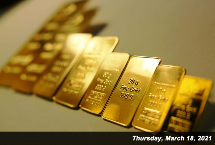 Row of Gold Bars Mar 18,2021