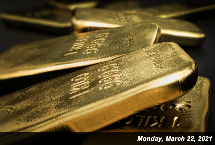Gold prices slipped 0.25 on Monday