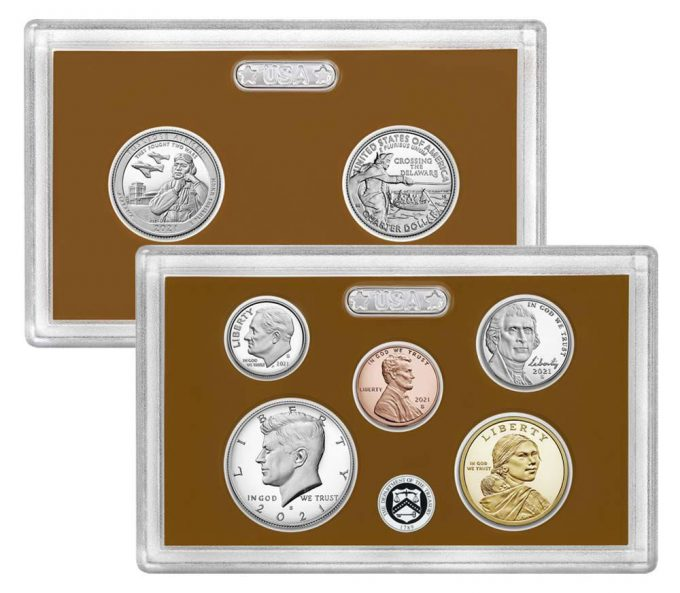 US Mint image of lenses for 2021 Proof Set