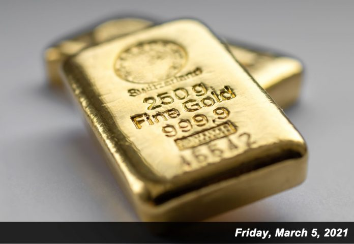 two 250 gram gold bars march 5, 2021