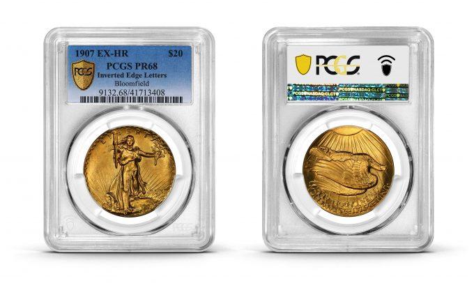 1907 UHR $20 PCGS PR68