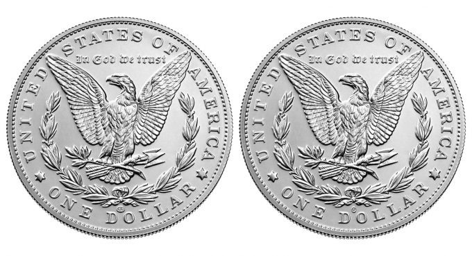 2021 Morgan Silver Dollars with CC and O Privy Marks