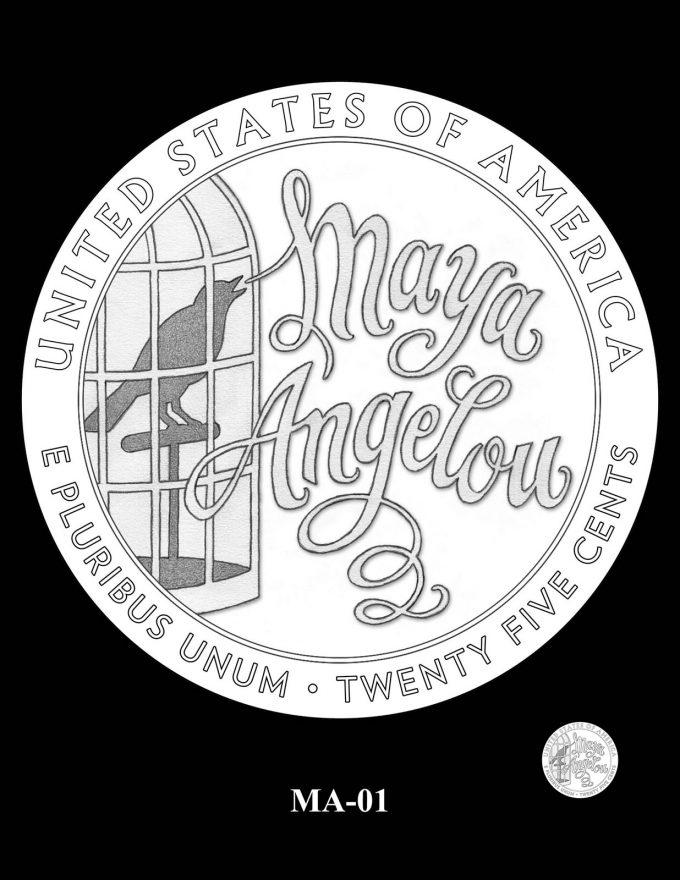 2022 Maya Angelou Quarter Candidate Design MA-01