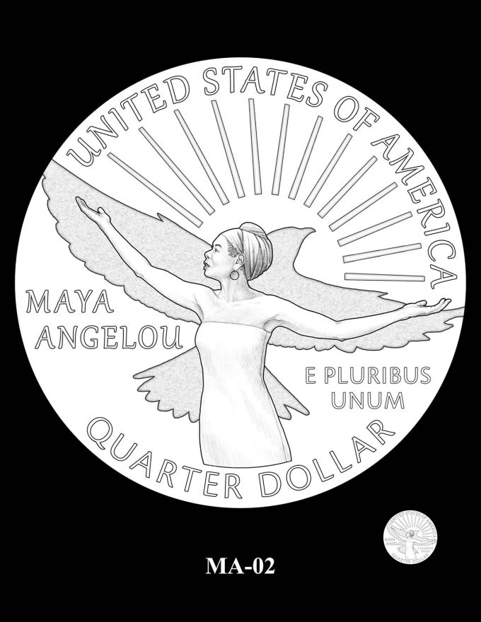 2022 Maya Angelou Quarter Candidate Design MA-02