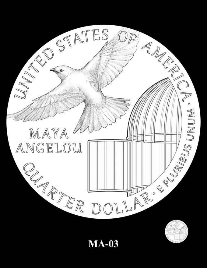 2022 Maya Angelou Quarter Candidate Design MA-03