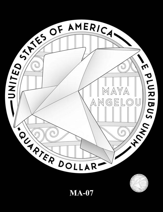 2022 Maya Angelou Quarter Candidate Design MA-07